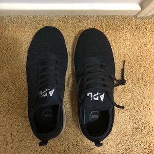 APL black running shoes gently worn